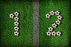 σύμβολο ποδοσφαίρου Στοκ φωτογραφίες με δικαίωμα ελεύθερης χρήσης