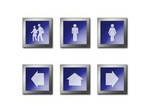 Σύμβολο προειδοποίησης σημαδιών Στοκ Φωτογραφίες