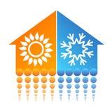 Σύμβολο σπιτιών κλιματισμού Στοκ Εικόνα