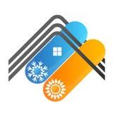 Σύμβολο στεγών σπιτιών κλιματισμού Στοκ Φωτογραφία