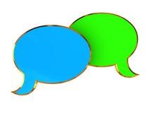 σύμβολο συνομιλίας Στοκ φωτογραφία με δικαίωμα ελεύθερης χρήσης