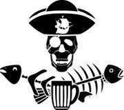 Σύμβολο ταβερνών πειρατείας χιούμορ διανυσματική απεικόνιση