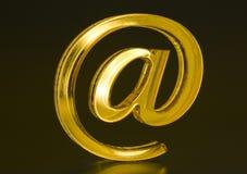 σύμβολο ταχυδρομείου ε Διαδίκτυο Στοκ Φωτογραφίες