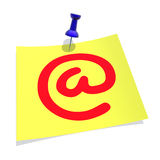 σύμβολο ταχυδρομείου ε Στοκ φωτογραφία με δικαίωμα ελεύθερης χρήσης