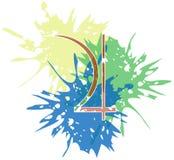 Σύμβολο του πλανήτη Δίας που δημιουργείται με τα σημεία που απομονώνονται ελεύθερη απεικόνιση δικαιώματος
