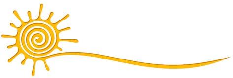 Σύμβολο του φωτεινού ήλιου ελεύθερη απεικόνιση δικαιώματος