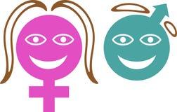 σύμβολο φύλων Στοκ φωτογραφίες με δικαίωμα ελεύθερης χρήσης