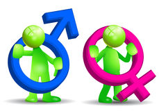 σύμβολο φύλων Στοκ φωτογραφία με δικαίωμα ελεύθερης χρήσης