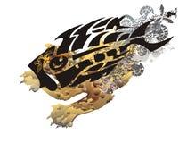 Σύμβολο ψαριών τεράτων σκελετών Grunge απεικόνιση αποθεμάτων