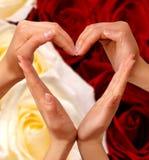 σύμβολο 2 καρδιών Στοκ Εικόνες