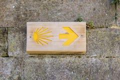 σύμβολο camino de Σαντιάγο Στοκ εικόνα με δικαίωμα ελεύθερης χρήσης