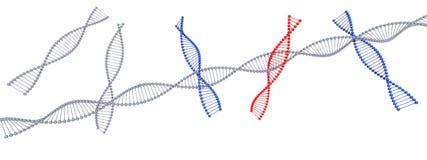 Σύμβολο DNA σε το που απομονώνεται στο άσπρο υπόβαθρο - τρισδιάστατη απόδοση διανυσματική απεικόνιση