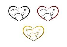 σύμβολο nativity καρδιών Στοκ Φωτογραφία
