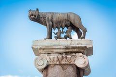 σύμβολο romulus της Ρώμης remus της Ιταλίας Στοκ Εικόνα