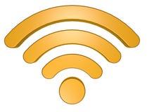 Σύμβολο Wifi στο άσπρο υπόβαθρο Στοκ Εικόνες