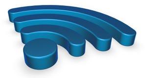 Σύμβολο Wifi στο άσπρο υπόβαθρο Στοκ Φωτογραφίες