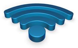 Σύμβολο Wifi στο άσπρο υπόβαθρο Στοκ εικόνες με δικαίωμα ελεύθερης χρήσης