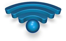 Σύμβολο Wifi στο άσπρο υπόβαθρο Στοκ φωτογραφίες με δικαίωμα ελεύθερης χρήσης