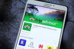 Σύμβουλος app ταξιδιού Στοκ φωτογραφία με δικαίωμα ελεύθερης χρήσης