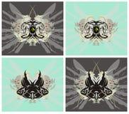 Σύμβολα αετών και ψαριών απεικόνιση αποθεμάτων