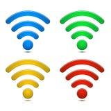 Σύμβολα ασύρματων δικτύων καθορισμένα Στοκ φωτογραφία με δικαίωμα ελεύθερης χρήσης