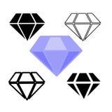 Σύμβολα διαμαντιών Στοκ φωτογραφία με δικαίωμα ελεύθερης χρήσης