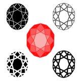 Σύμβολα διαμαντιών Στοκ εικόνες με δικαίωμα ελεύθερης χρήσης