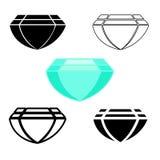 Σύμβολα διαμαντιών Στοκ Εικόνες