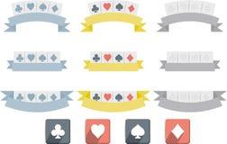 Σύμβολα πόκερ που απομονώνονται Στοκ Εικόνες
