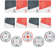 Σύμβολα πόκερ που απομονώνονται Στοκ φωτογραφίες με δικαίωμα ελεύθερης χρήσης
