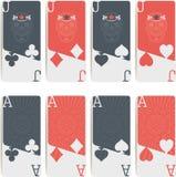Σύμβολα πόκερ που απομονώνονται Στοκ Φωτογραφίες