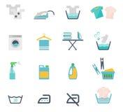 Σύμβολα πλυντηρίων Στοκ εικόνα με δικαίωμα ελεύθερης χρήσης