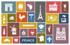 Σύμβολα της Γαλλίας ελεύθερη απεικόνιση δικαιώματος