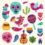Σύμβολα του Μεξικού διανυσματική απεικόνιση
