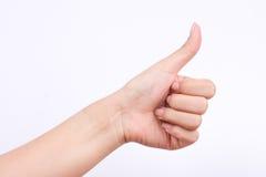 Σύμβολα χεριών δάχτυλων η έννοια όπως το κουμπί και το καλύτερο άριστο αγαθό που αισθάνονται στο άσπρο υπόβαθρο Στοκ εικόνα με δικαίωμα ελεύθερης χρήσης