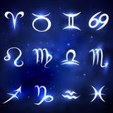 σύμβολα δώδεκα σημαδιών σχεδίου έργων τέχνης διάφορο zodiac Στοκ Εικόνες