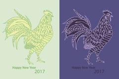 Σύμβολο έτους κοκκόρων 2017 νέο Στοκ Εικόνα