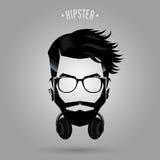 Σύμβολο ακουστικών Hipster ελεύθερη απεικόνιση δικαιώματος