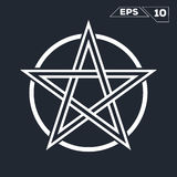 Σύμβολο αστεριών εικονογραμμάτων τέχνης γραμμών Στοκ εικόνες με δικαίωμα ελεύθερης χρήσης