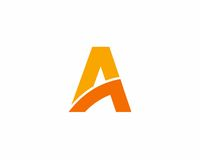 Σύμβολο αλφάβητου εικονιδίων γραμμάτων Α Στοκ φωτογραφίες με δικαίωμα ελεύθερης χρήσης