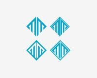 Σύμβολο αλφάβητου εικονιδίων γραμμάτων Μ Διανυσματικό σημάδι σχεδίου εικονιδίων λογότυπων γραμμάτων Μ Στοκ εικόνες με δικαίωμα ελεύθερης χρήσης