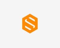 Σύμβολο αλφάβητου εικονιδίων γραμμάτων S Σημάδι σχεδίου εικονιδίων λογότυπων γραμμάτων S Στοκ Εικόνες
