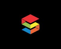 Σύμβολο αλφάβητου εικονιδίων γραμμάτων S Σημάδι σχεδίου εικονιδίων λογότυπων γραμμάτων S Στοκ Εικόνα