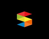 Σύμβολο αλφάβητου εικονιδίων γραμμάτων S Σημάδι σχεδίου εικονιδίων λογότυπων γραμμάτων S Στοκ Φωτογραφίες