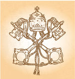 Σύμβολο Βατικάνου διανυσματική απεικόνιση