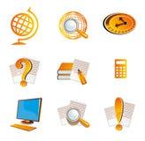 Σύμβολο εικονιδίων σχολείου και εκπαίδευσης Στοκ Εικόνα