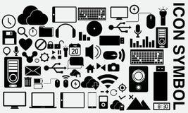 Σύμβολο εικονιδίων υπολογιστών Στοκ φωτογραφία με δικαίωμα ελεύθερης χρήσης