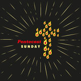 Σύμβολο εκκλησιών Η Κυριακή Pentecost ιερό πνεύμα Στοκ Φωτογραφία