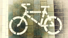 Σύμβολο ενός ποδηλάτου Στοκ Φωτογραφίες