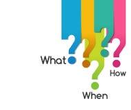 Σύμβολο ερώτησης αυτών που όταν όπου γιατί ποιοι πώς, διάγραμμα ανάλυσης διανυσματική απεικόνιση
